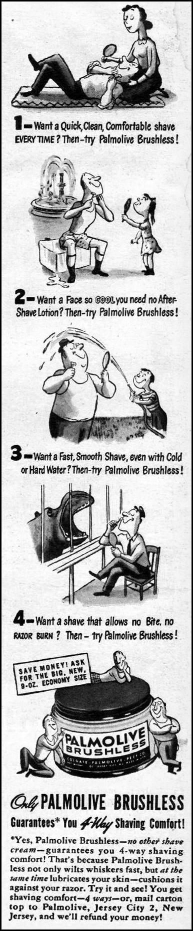 BRUSHLESS SHAVE CREAM LIFE 03/12/1945 p. 2