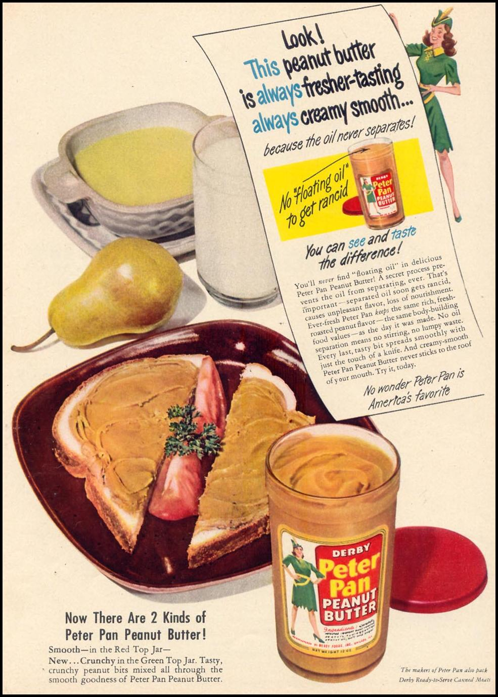 PETER PAN PEANUT BUTTER WOMAN'S DAY 09/01/1948 p. 25