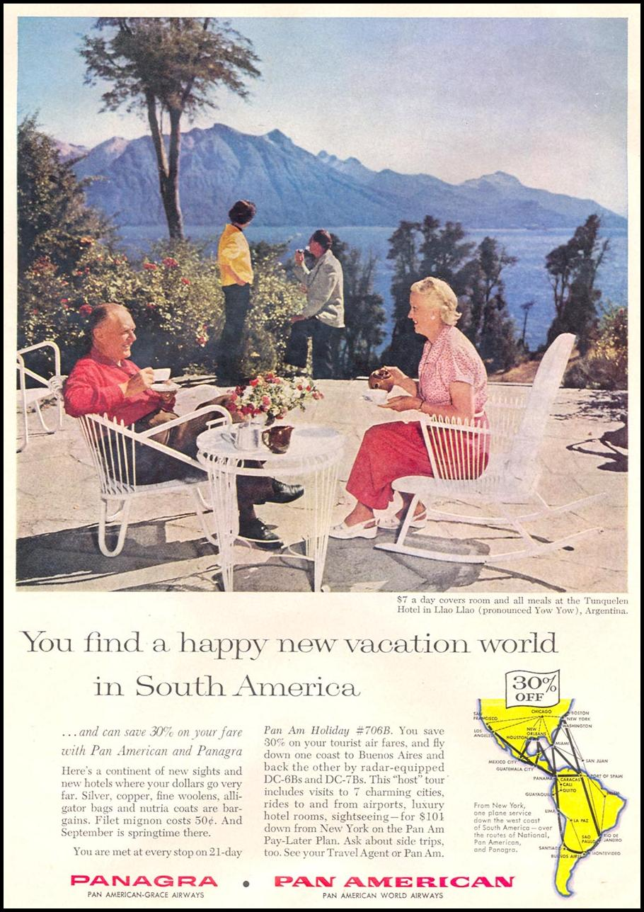 SOUTH AMERICAN TRAVEL TIME 09/15/1958 p. 28