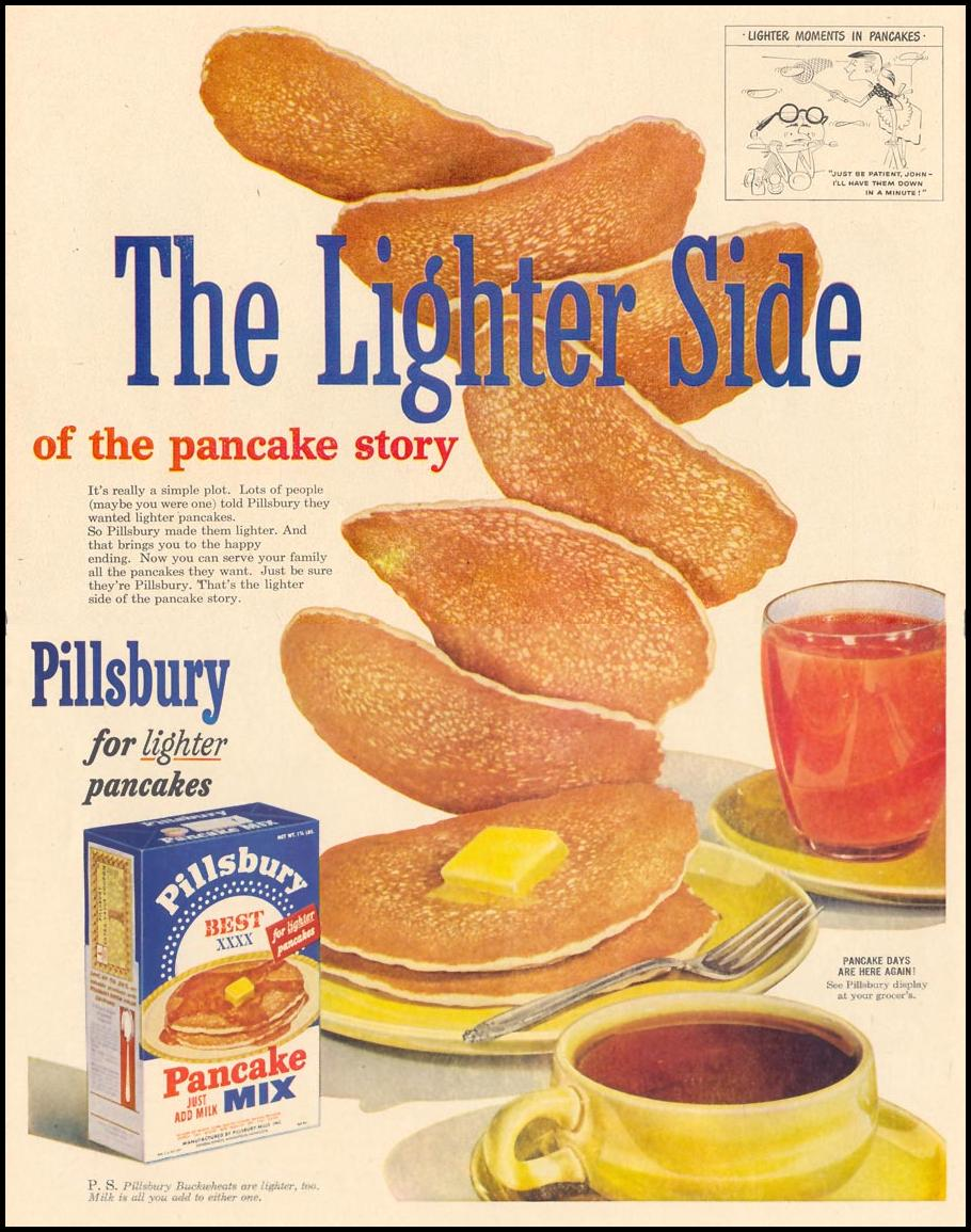 PILLSBURY PANCAKE MIX LIFE 01/21/1952 p. 60