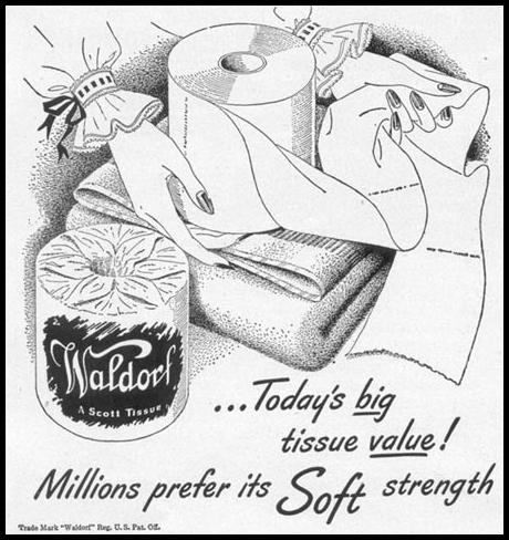 WALDORF BATHROOM TISSUE WOMAN'S DAY 12/01/1948 p. 102