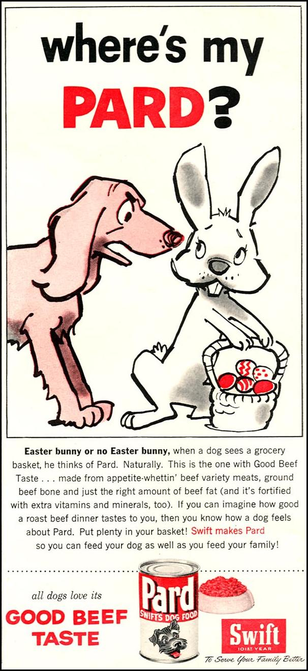 PARD DOG FOOD WOMAN'S DAY 04/01/1956 p. 97
