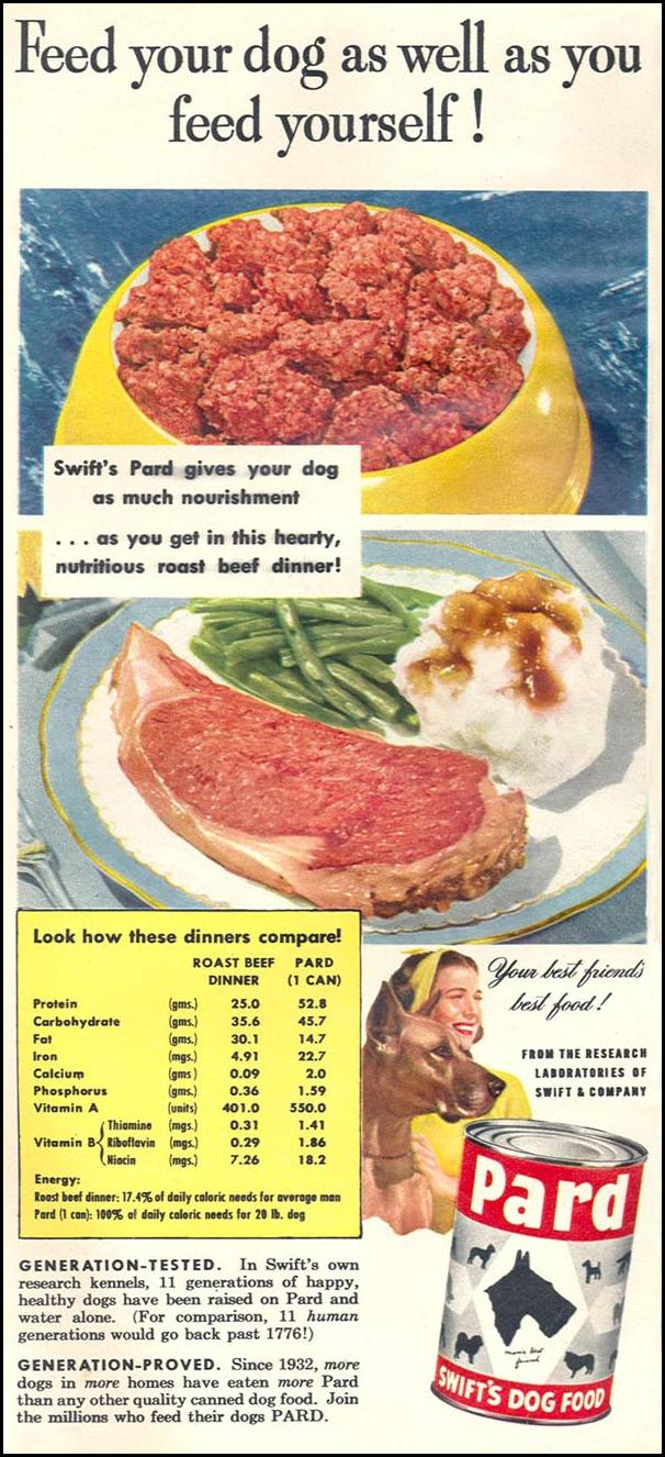 PARD DOG FOOD WOMAN'S DAY 06/01/1950 p. 10