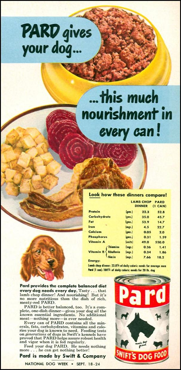 PARD DOG FOOD WOMAN'S DAY 09/01/1949 p. 63