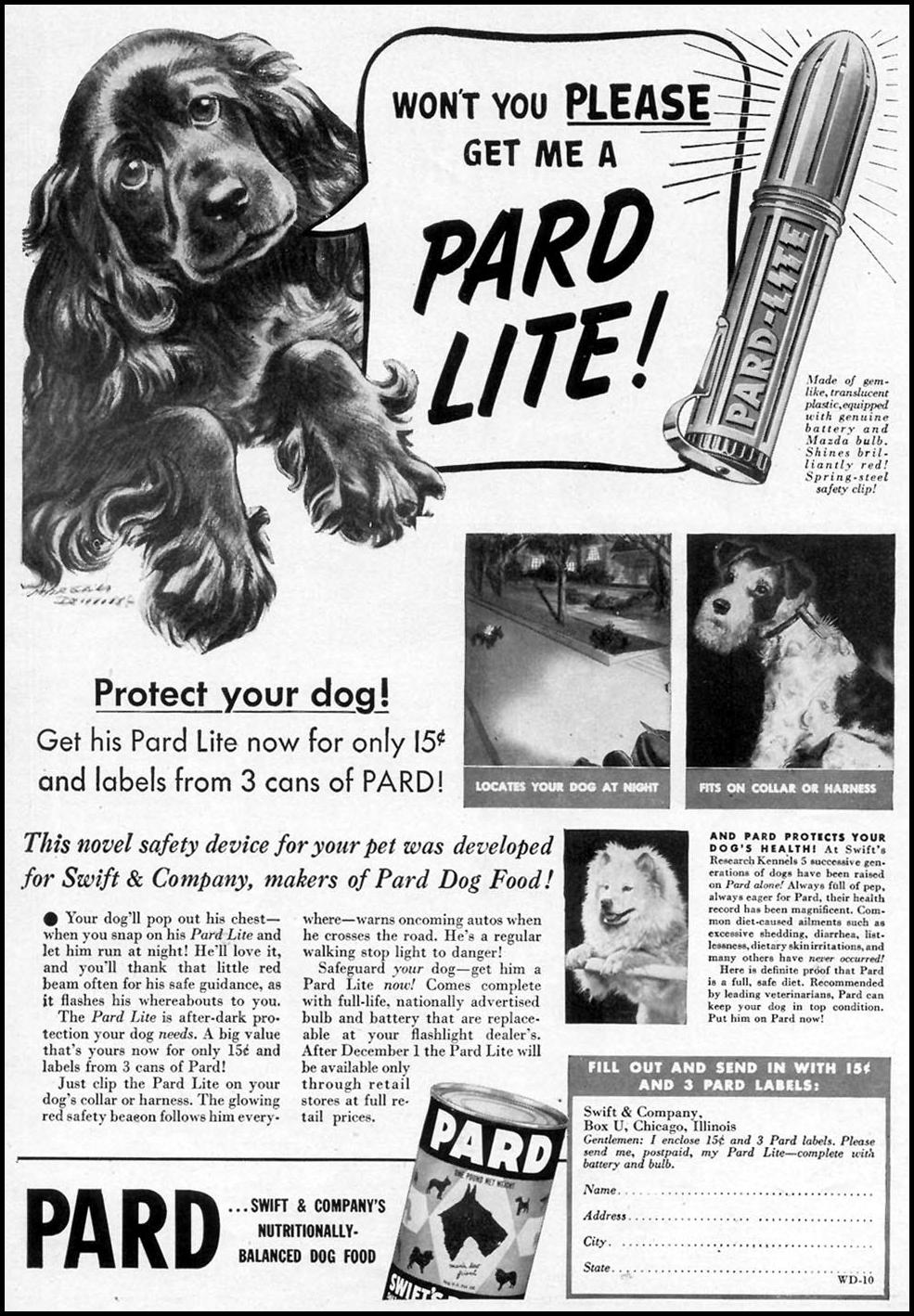PARD DOG FOOD WOMAN'S DAY 10/01/1940 p. 55