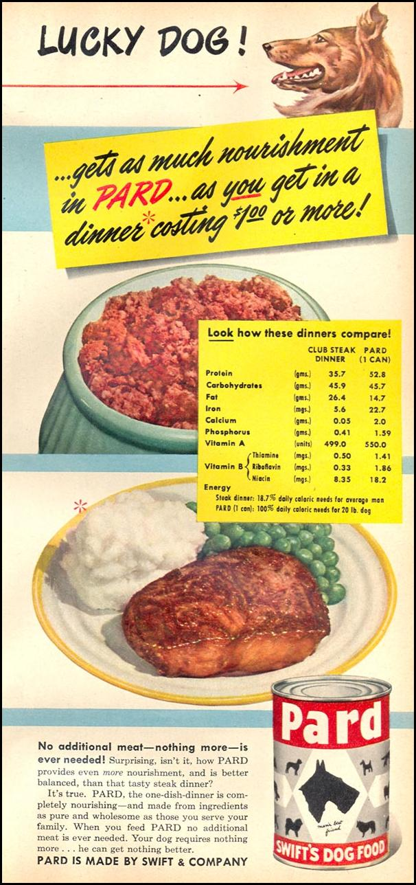 PARD DOG FOOD WOMAN'S DAY 10/01/1949 p. 77
