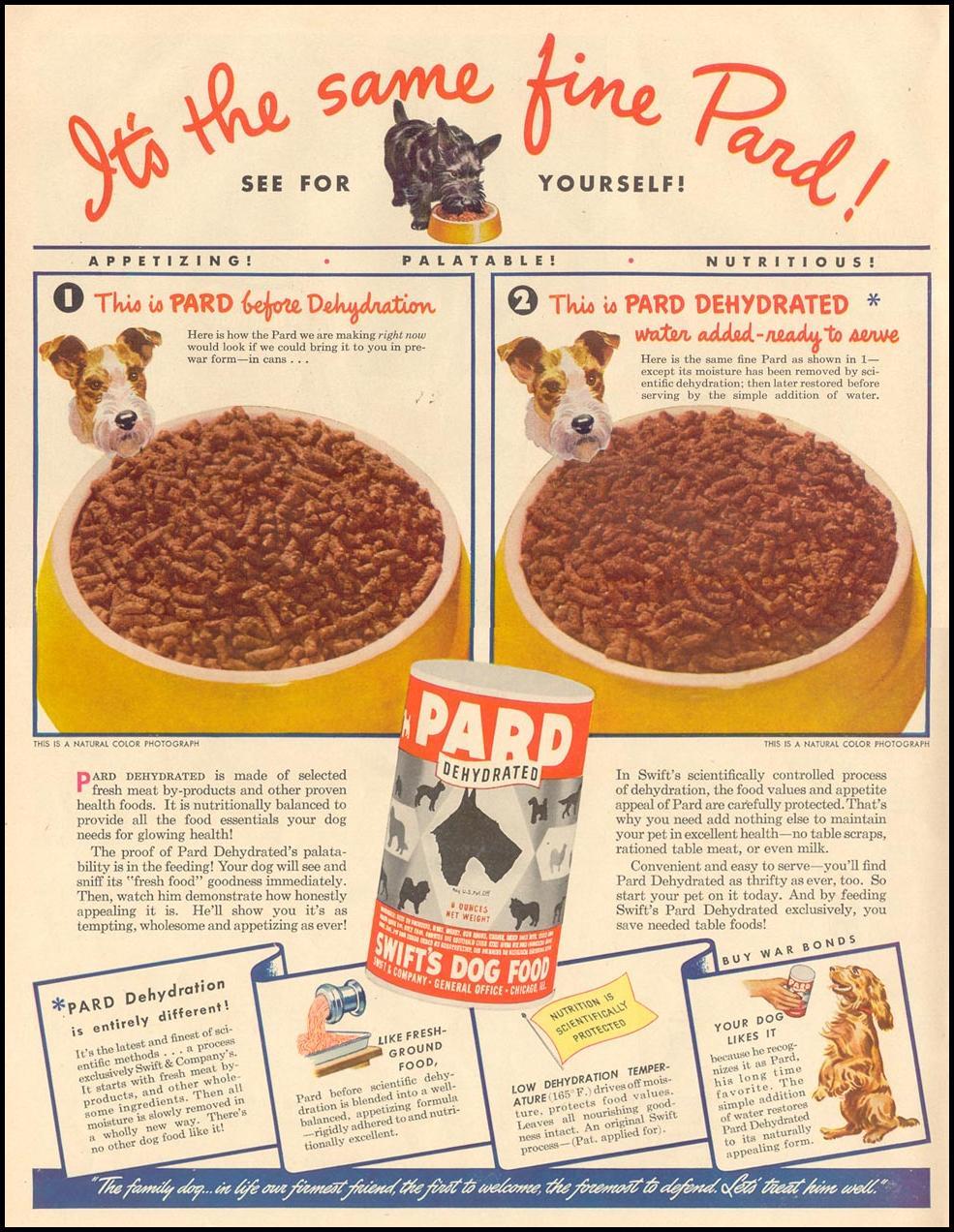 PARD DOG FOOD LIFE 11/08/1943