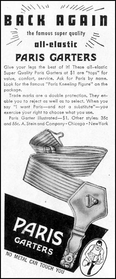 PARIS ALL-ELASTIC GARTERS LIFE 02/21/1944 p. 112