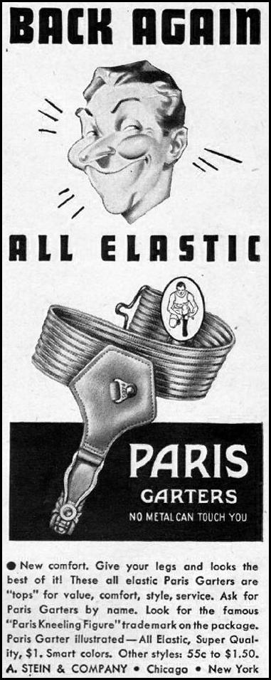 PARIS ALL-ELASTIC GARTERS LIFE 11/13/1944 p. 4