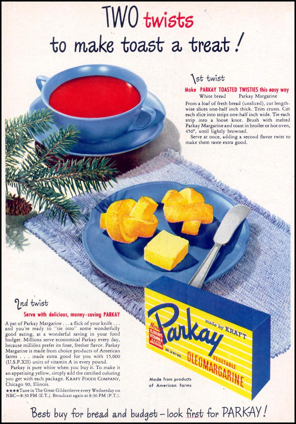 PARKAY MARGARINE WOMAN'S DAY 03/01/1948 p. 21