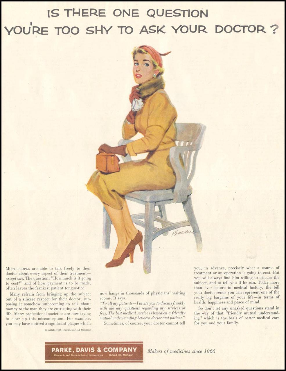 PHARMACEUTICALS SATURDAY EVENING POST 12/10/1955 p. 129