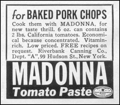 MADONNA TOMATO PASTE WOMAN'S DAY 04/01/1941 p. 58