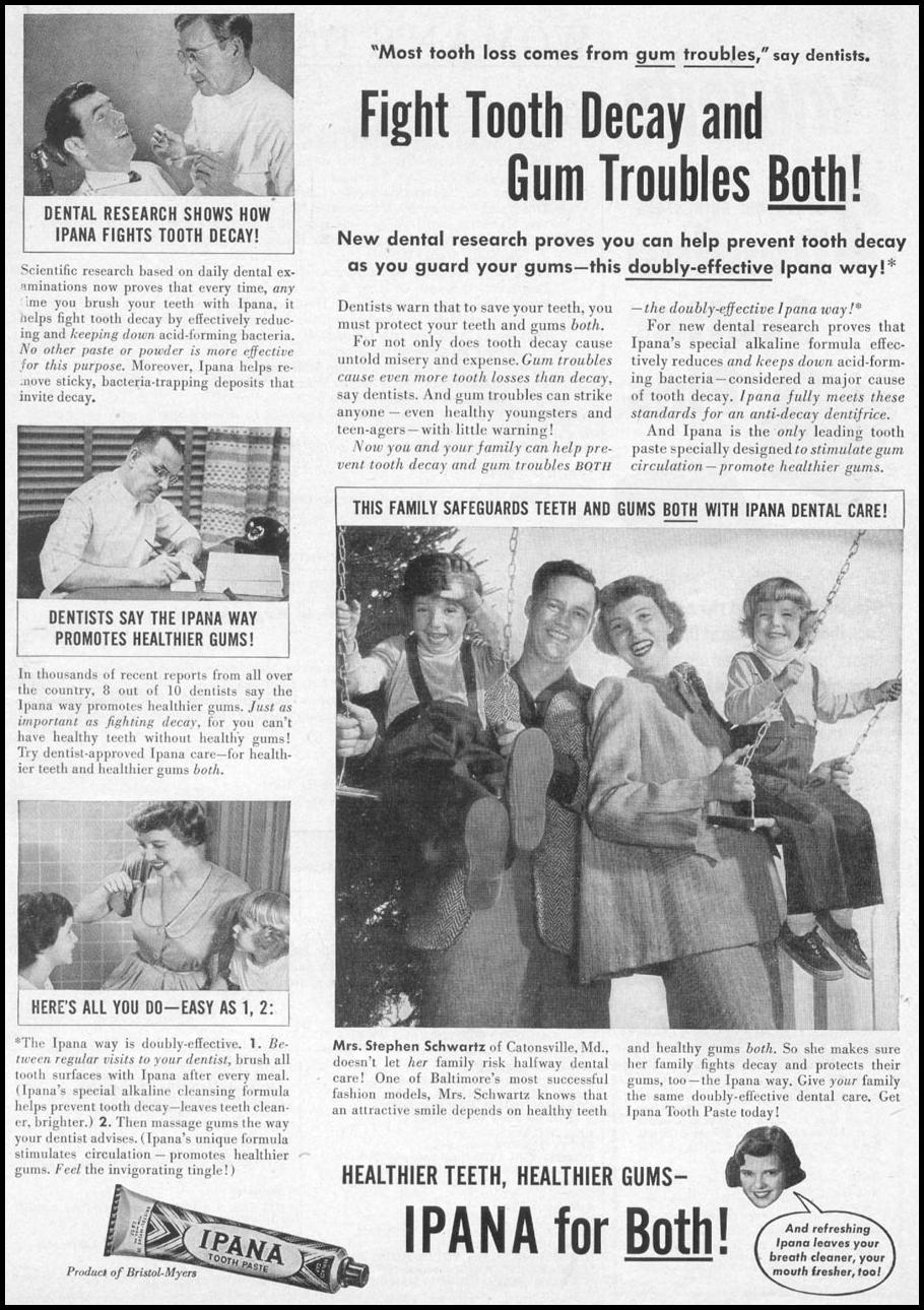 IPANA TOOTHPASTE WOMAN'S DAY 10/01/1949 p. 1