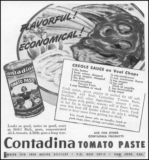 CONTADINA TOMATO PASTE WOMAN'S DAY 12/01/1948 p. 76
