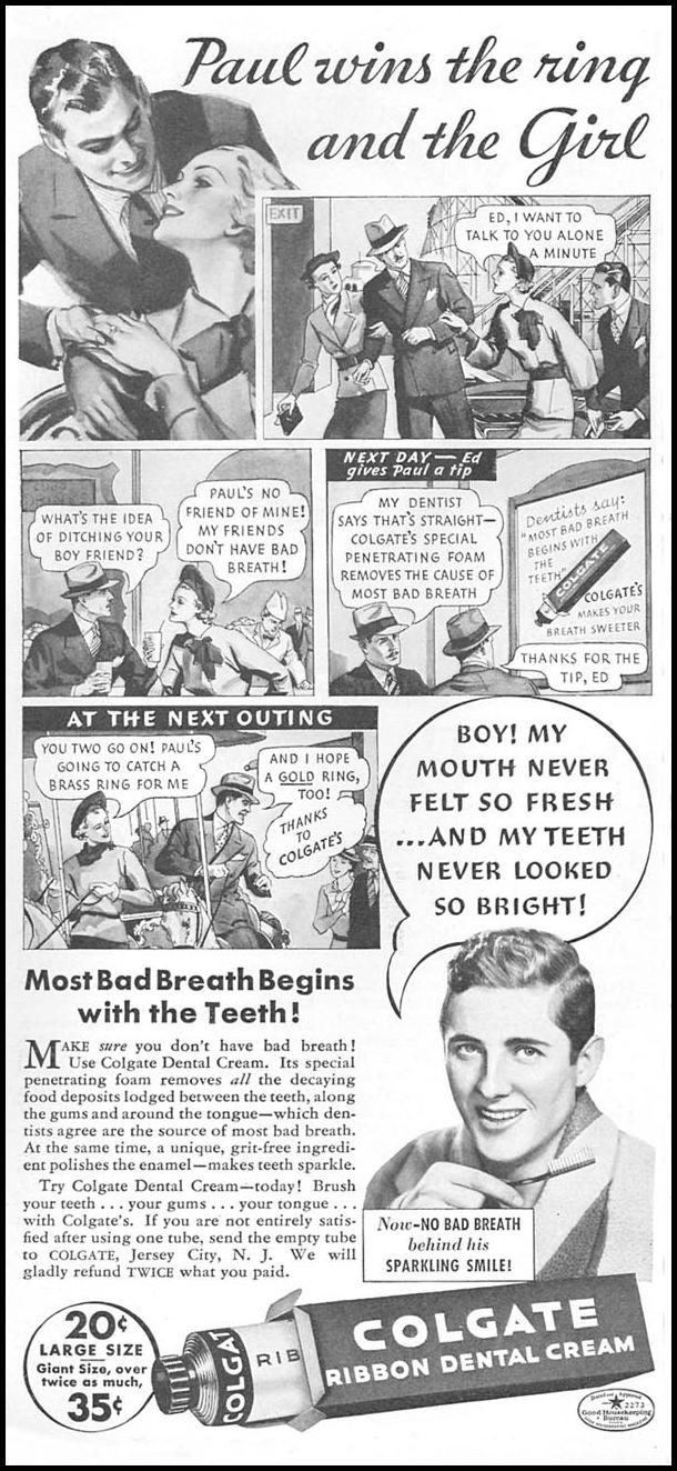 COLGATE DENTAL CREAM GOOD HOUSEKEEPING 04/01/1936 p. 106