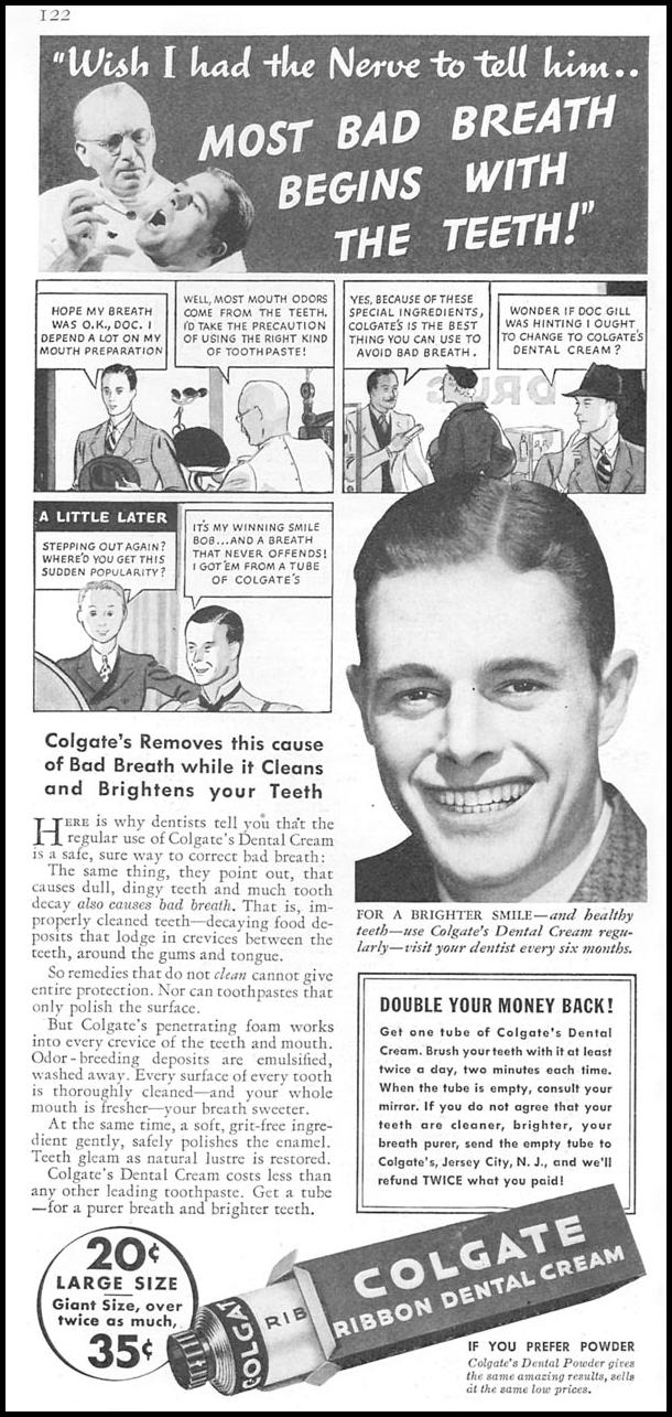 COLGATE DENTAL CREAM GOOD HOUSEKEEPING 06/01/1935 p. 122