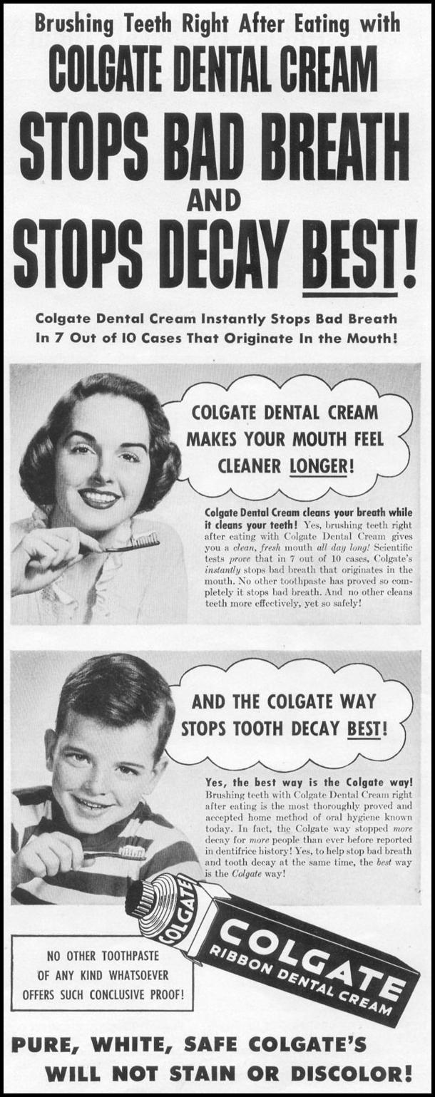 COLGATE DENTAL CREAM LIFE 06/16/1952 p. 43