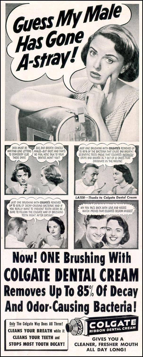 COLGATE DENTAL CREAM LIFE 10/19/1953 p. 51