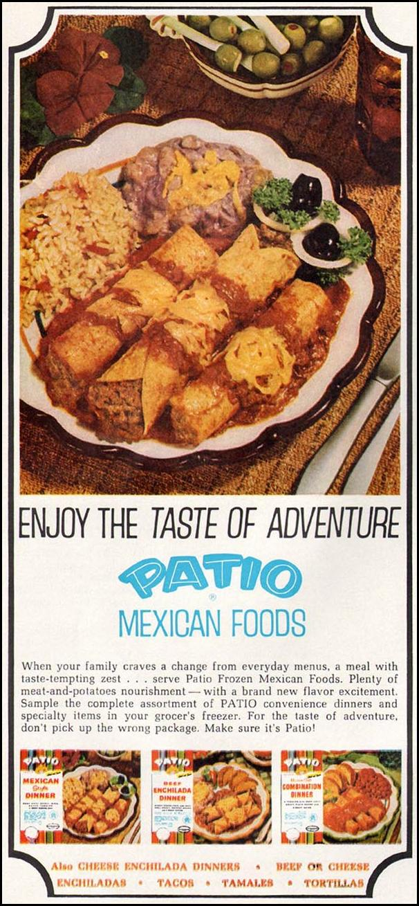 PATIO MEXICAN FOODS GOOD HOUSEKEEPING 10/01/1965 p. 184
