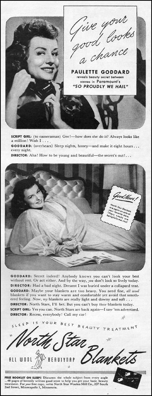 NORTH STAR BLANKETS LIFE 10/11/1943 p. 113