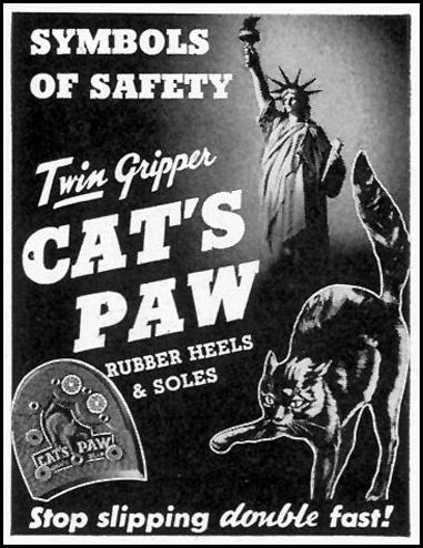 CAT'S PAW TWIN GRIPPER RUBBER HEELS & SOLES LIFE 02/28/1944 p. 106