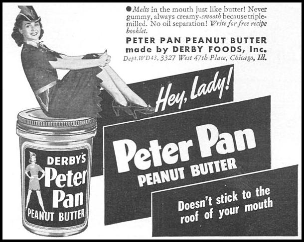 PETER PAN PEANUT BUTTER WOMAN'S DAY 04/01/1943 p. 73