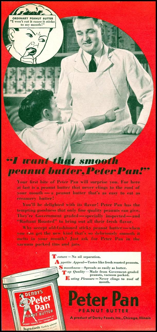 PETER PAN PEANUT BUTTER WOMAN'S DAY 05/01/1940 p. 53