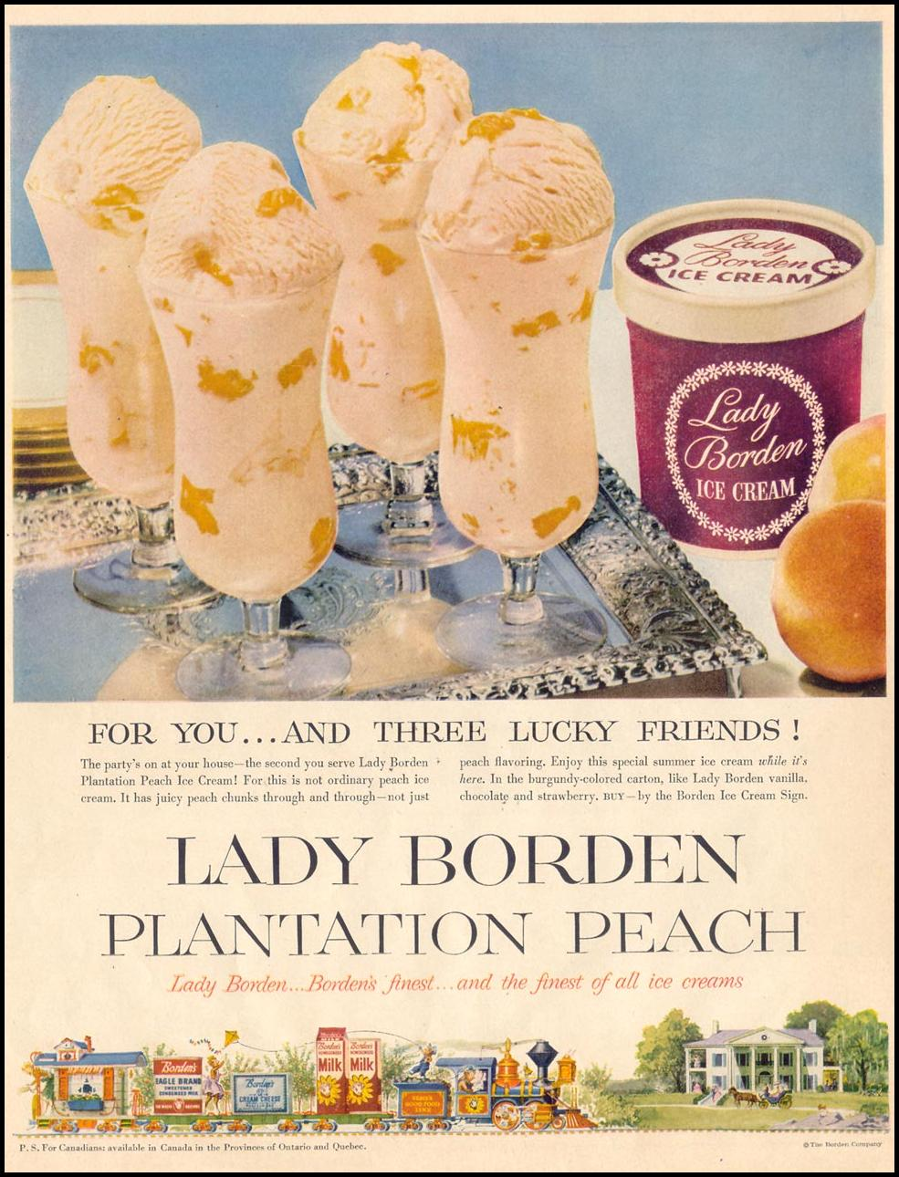LADY BORDEN PLANTATION PEACH ICE CREAM LIFE 07/06/1953 p. 6