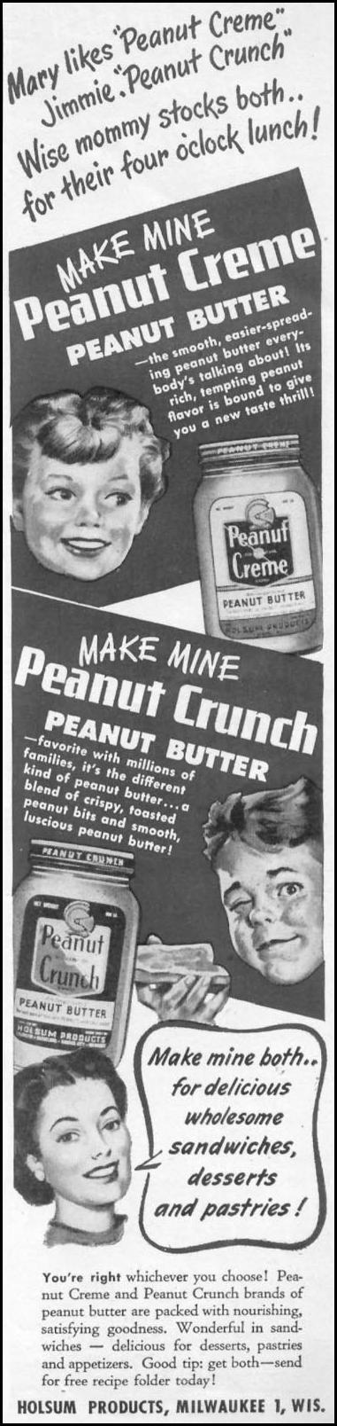 HOLSUM PEANUT BUTTER WOMAN'S DAY 05/01/1947 p. 11
