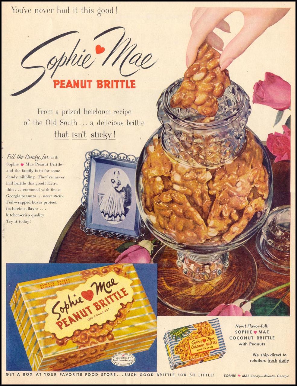 SOPHIE MAE PEANUT BRITTLE LIFE 10/19/1953 p. 117