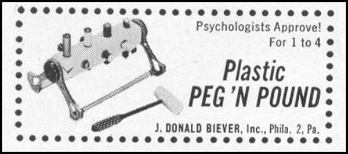 PLASTIC PEG 'N POUND LIFE 10/13/1952 p. 118