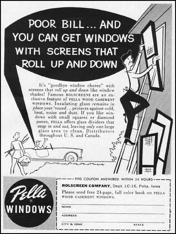 PELLA WINDOWS BETTER HOMES AND GARDENS 03/01/1960 p. 133