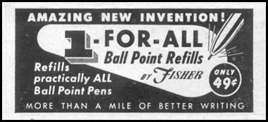 BALL POINT REFILLS LIFE 07/12/1954