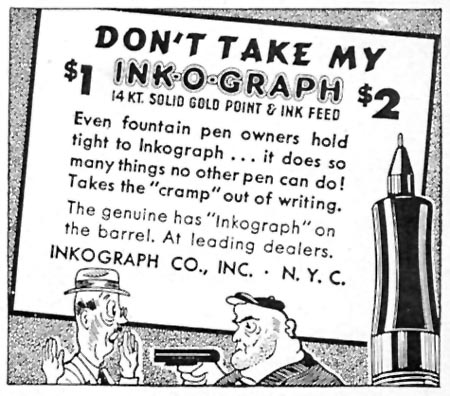 INKOGRAPH PENS TIME 11/02/1942 p. 102