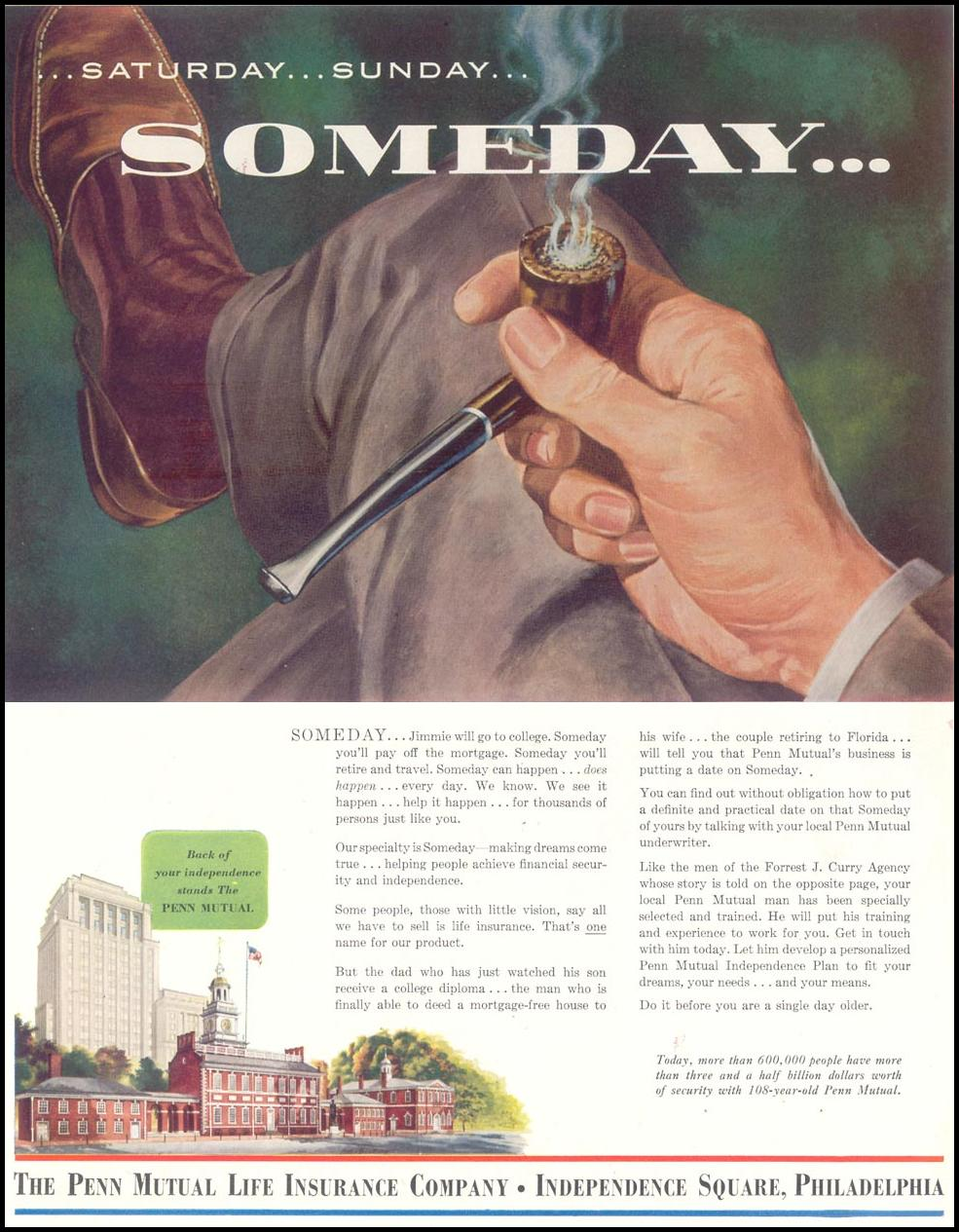 LIFE INSURANCE SATURDAY EVENING POST 04/09/1955 p. 118