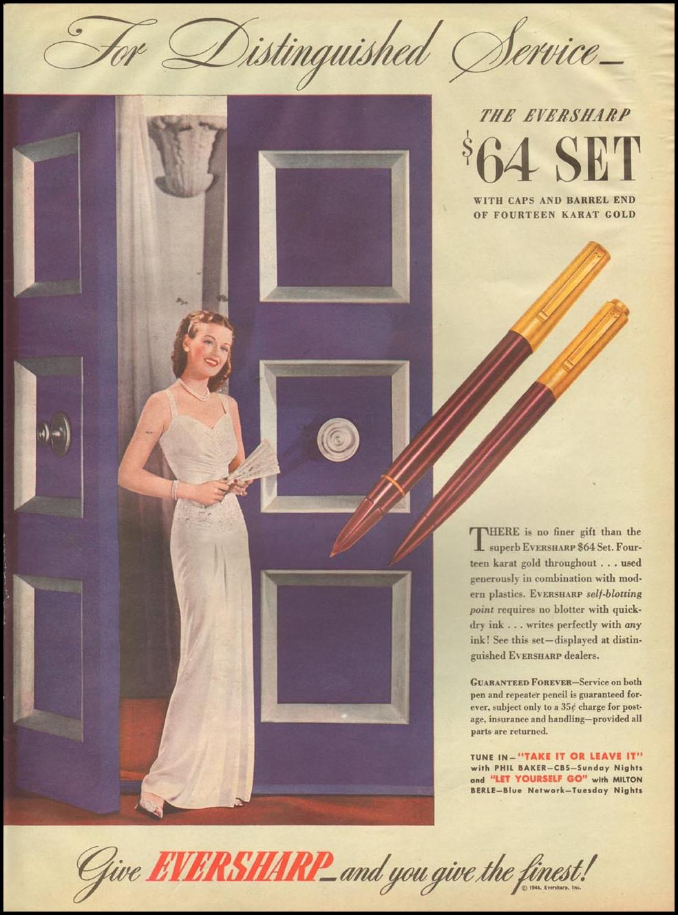 EVERSHARP PEN & PENCIL SETS LIFE 10/23/1944