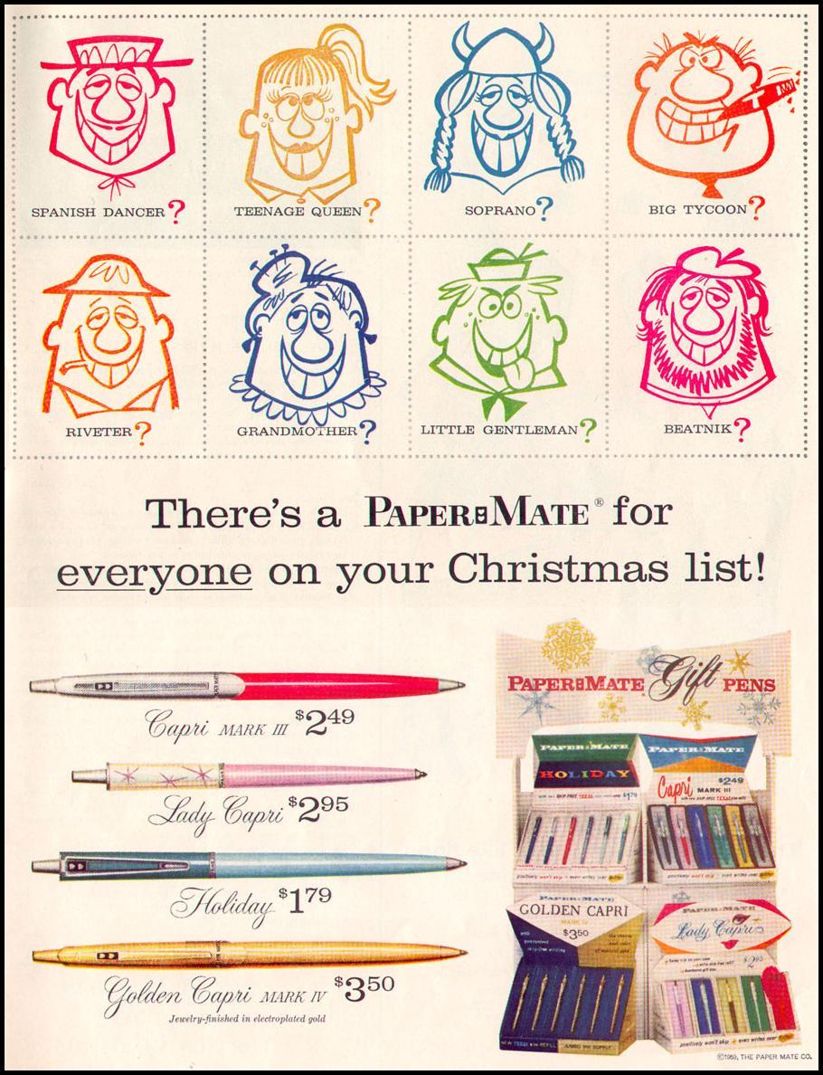 PAPER MATE PENS LIFE 12/14/1959 p. 87