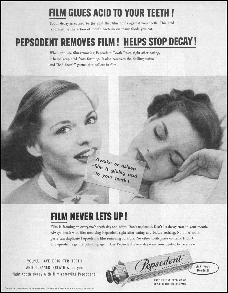 PEPSODENT TOOTHPASTE LIFE 04/17/1950 p. 159