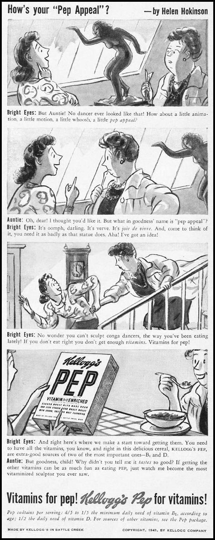 KELLOGG'S PEP CEREAL LIFE 08/04/1941 p. 79