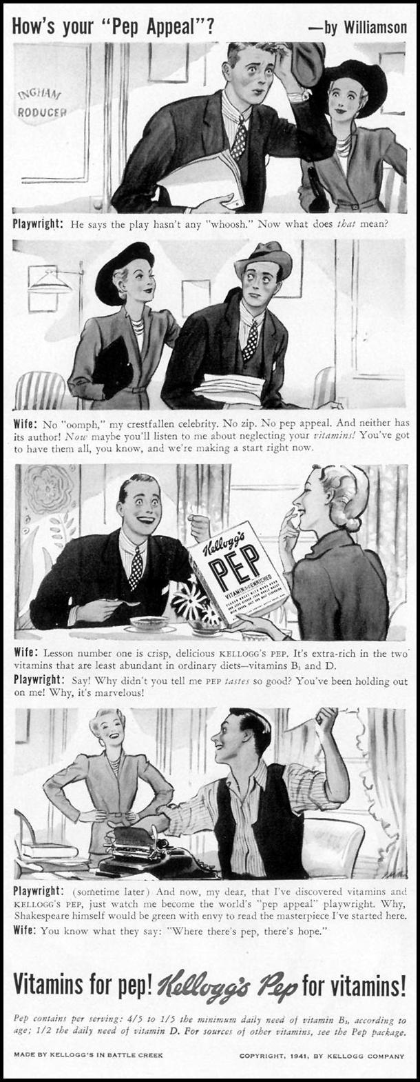 KELLOGG'S PEP CEREAL LIFE 10/13/1941 p. 92