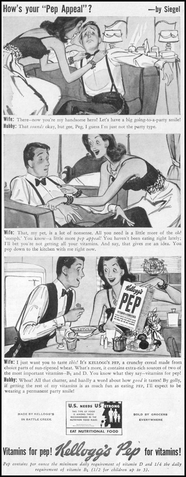 KELLOGG'S PEP CEREAL LIFE 11/02/1942 p. 38