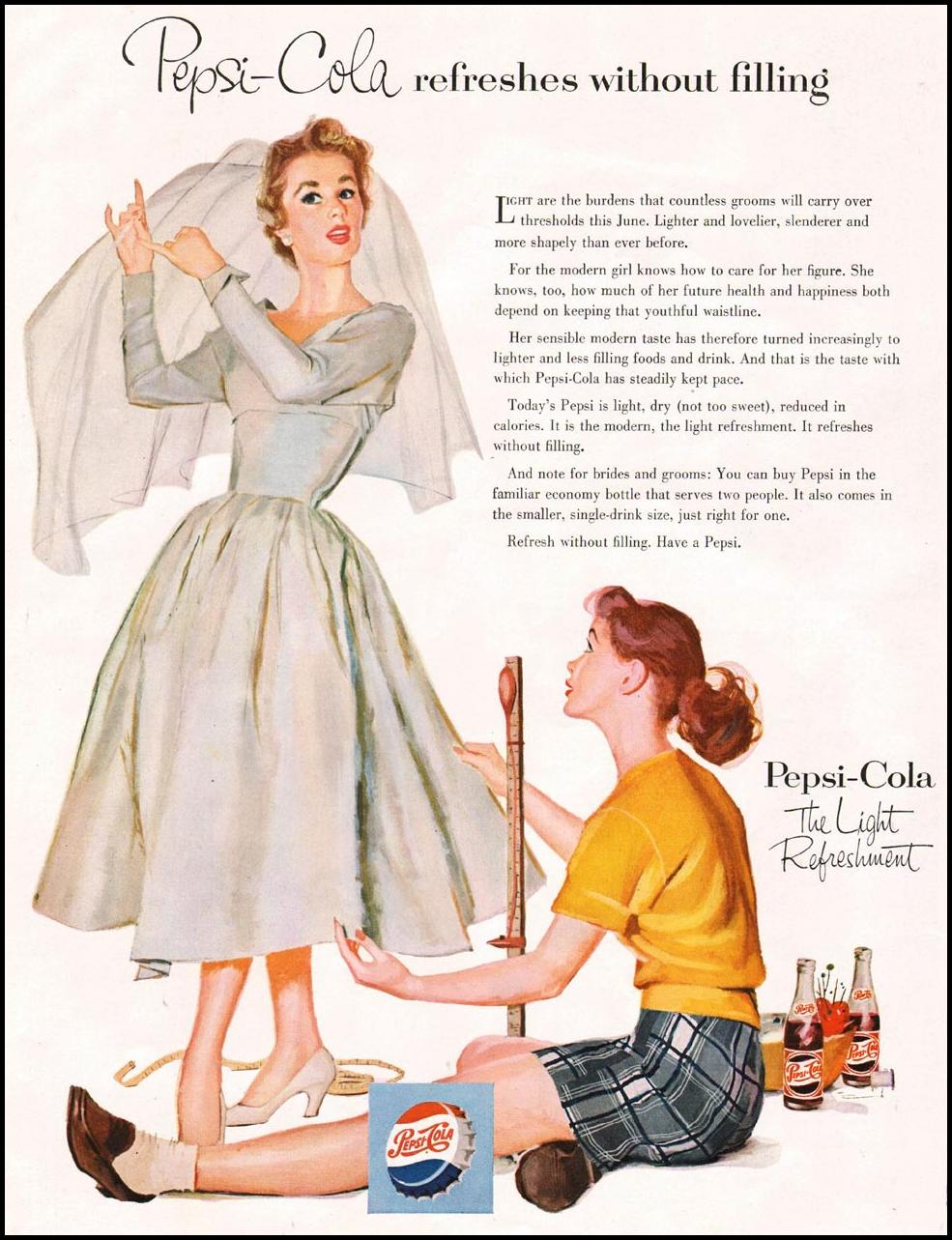 PEPSI-COLA LADIES' HOME JOURNAL 06/01/1954 p. 22