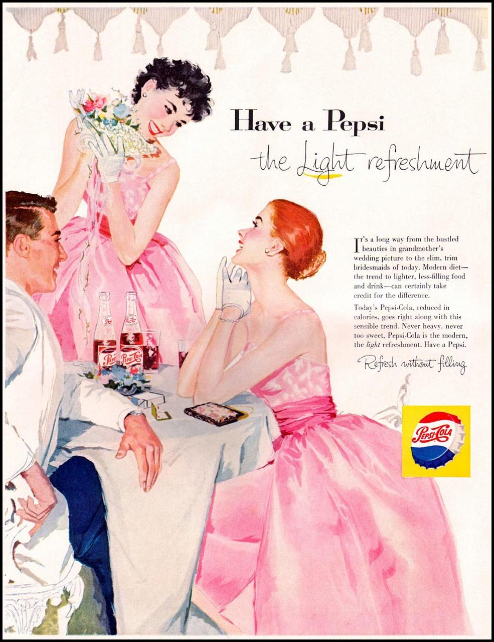 PEPSI-COLA LIFE 06/24/1957 INSIDE FRONT
