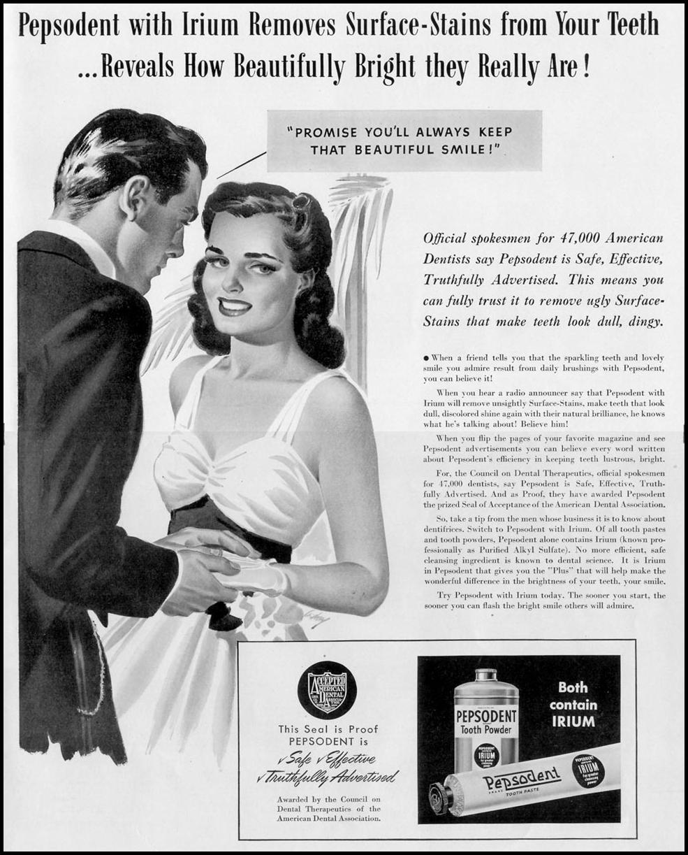 PEPSODENT TOOTHPASTE LIFE 09/16/1940 p. 7