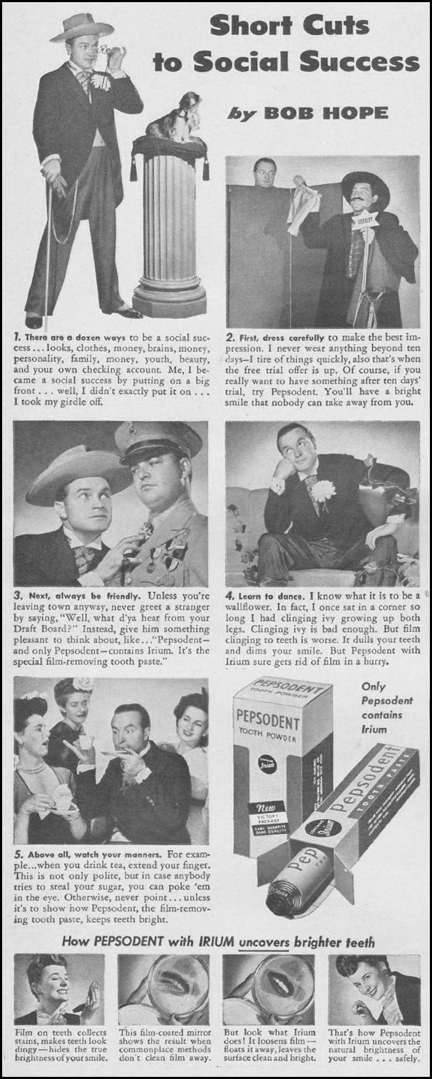 PEPSODENT TOOTHPASTE LIFE 08/09/1943 p. 4