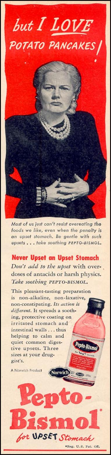PEPTO-BISMOL WOMAN'S DAY 02/01/1947 p. 15