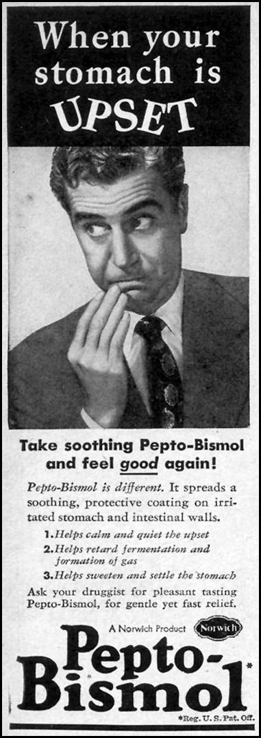 PEPTO-BISMOL WOMAN'S DAY 03/01/1948 p. 120