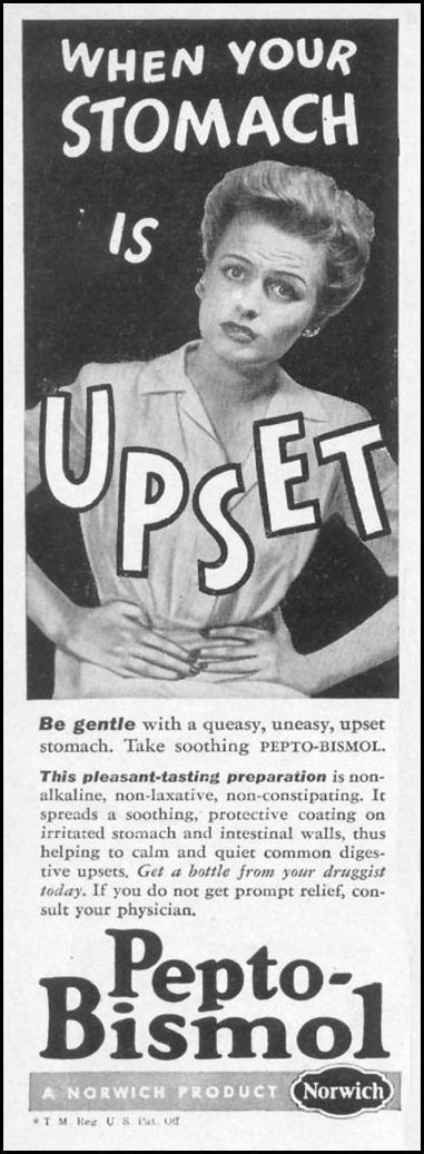 PEPTO-BISMOL WOMAN'S DAY 05/01/1947 p. 126