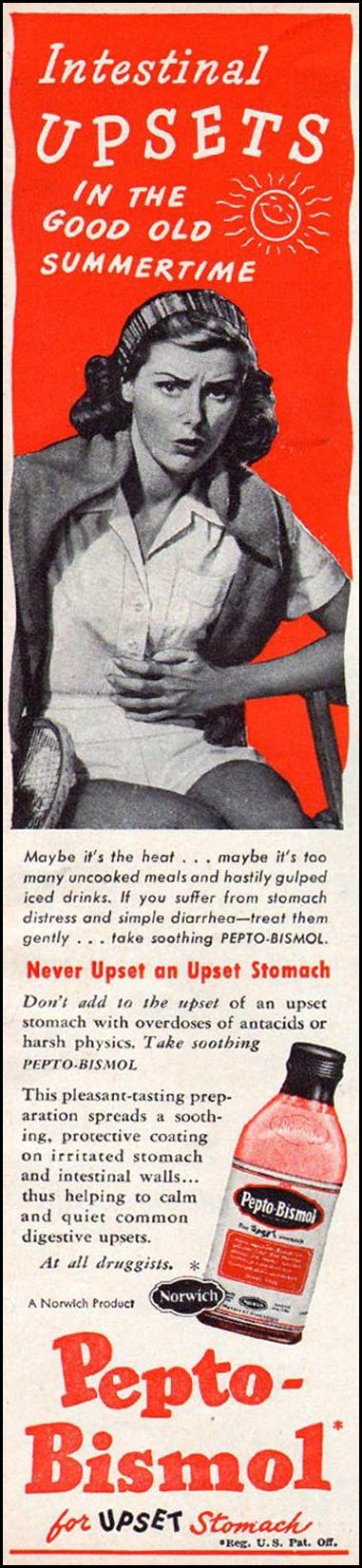 PEPTO-BISMOL WOMAN'S DAY 06/01/1947 p. 82