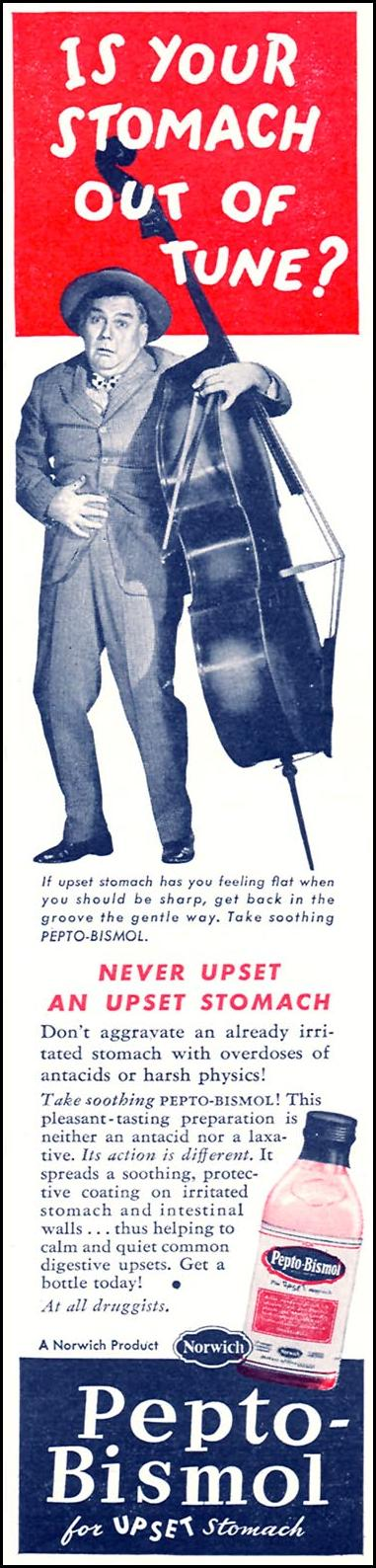PEPTO-BISMOL WOMAN'S DAY 07/01/1945 p. 9